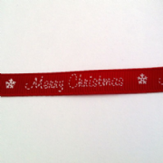 Red Merry Christmas Ribbon
